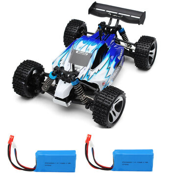 Coupone for Wltoys A959 Rc Car with 2 Batteries Version 1/18 2.4G 4WD 50km/h Off Road Truck RTR Toy