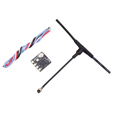 Coupone for 0.5g JHEMCU EP24S 2.4G ExpressLRS ELRS High Refresh Rate Low Latency Ultra-small Long-range RC Receiver for RC FPV Drone