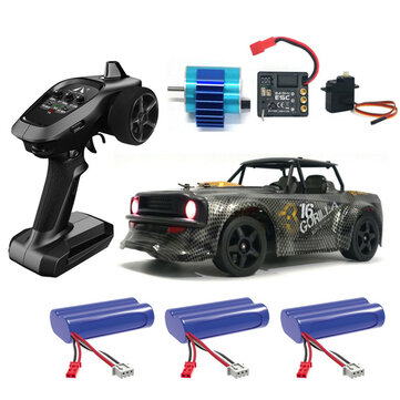 Coupone for SG 1604 RTR Brushless 60km/h Several Battery 1/16 2.4G 4WD RC Car LED Light Drift Proportional Vehicles Model