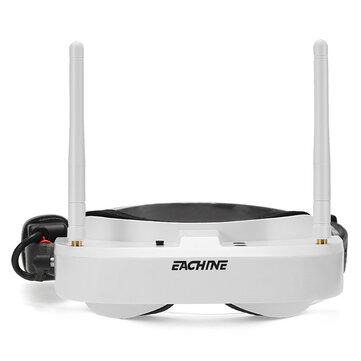 Coupone for Eachine EV100 720*540 5.8G 72CH FPV Goggles With Dual Antennas Fan 7.4V 1000mAh Battery Case For RC Drone