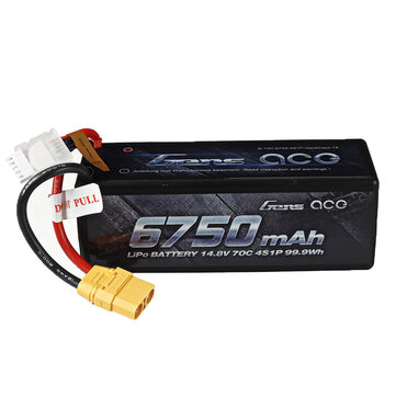 Coupone for Gens ace 14.8V 6750mAh 70C 4S Lipo Battery XT90 Plug for RC Racing Drone