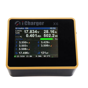 Coupone for iCharger X6 800W 30A DC LCD Screen Smart Battery Balance Charger Discharger