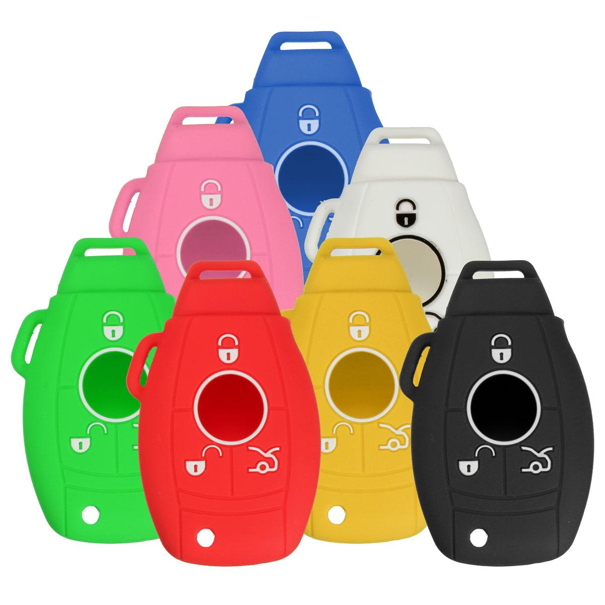 3/4 Button Silicone Remote Key Cover Protective C