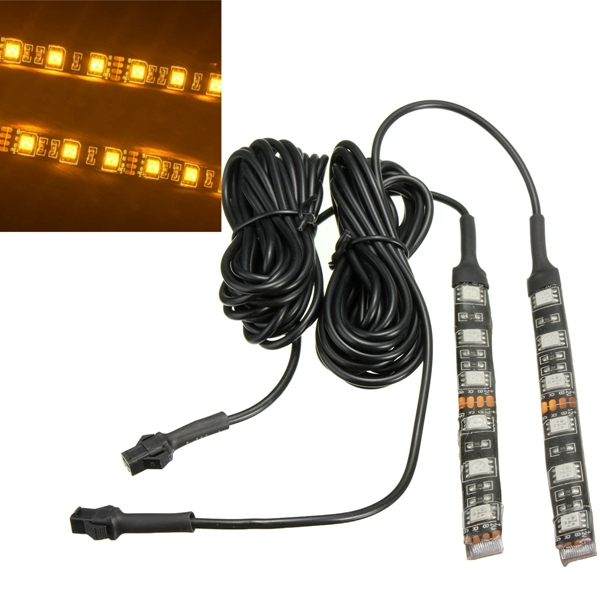2pcs Universal Motorcycle Amber LED Turn Signal I