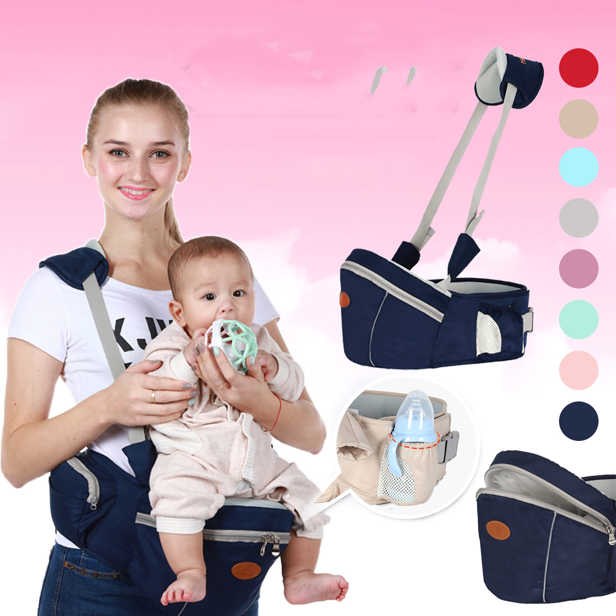 Baby Hip Seat Waist Stool Walkers Travel Carrier