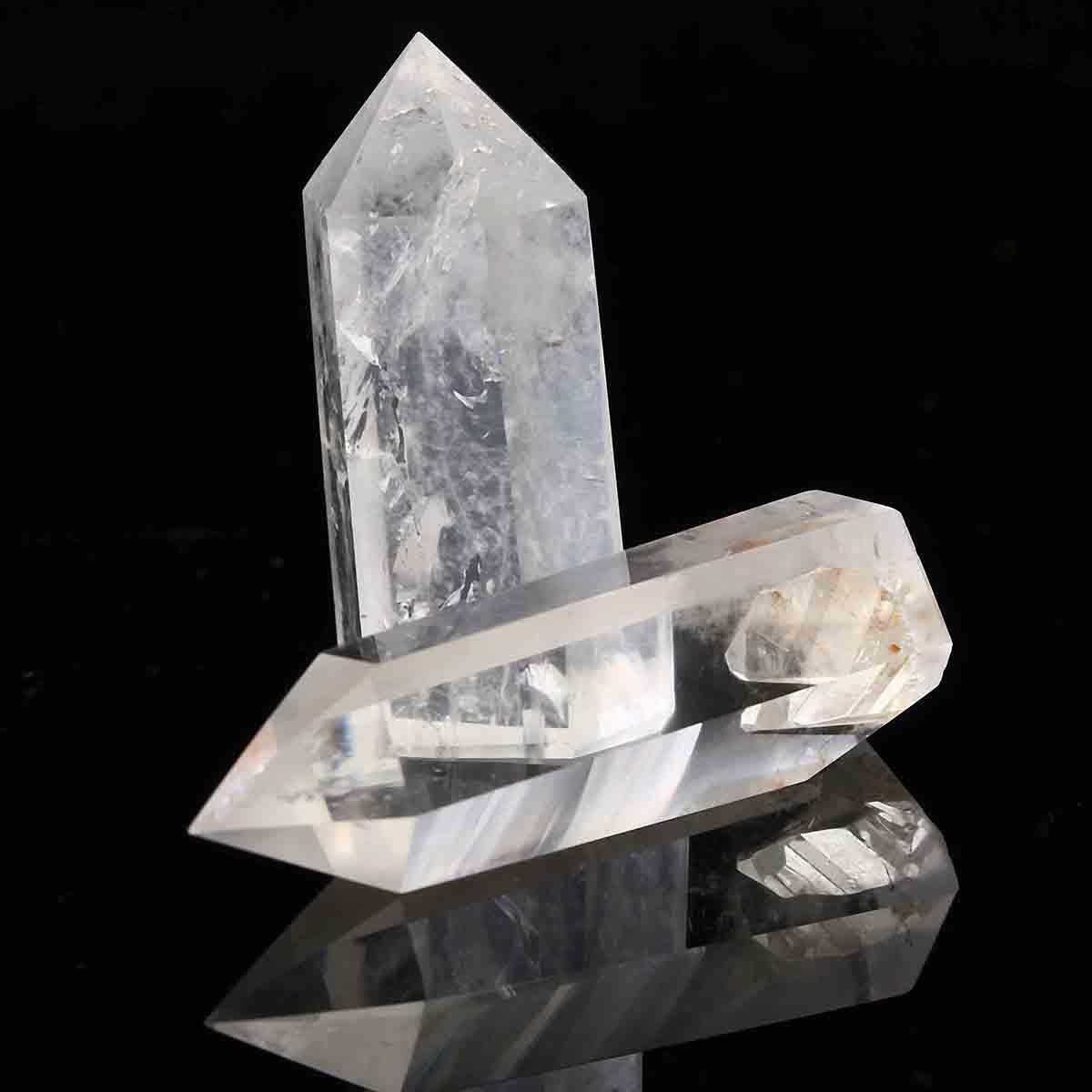 2pcs Transparent Clear Healing Seed Rock Quartz Crystal