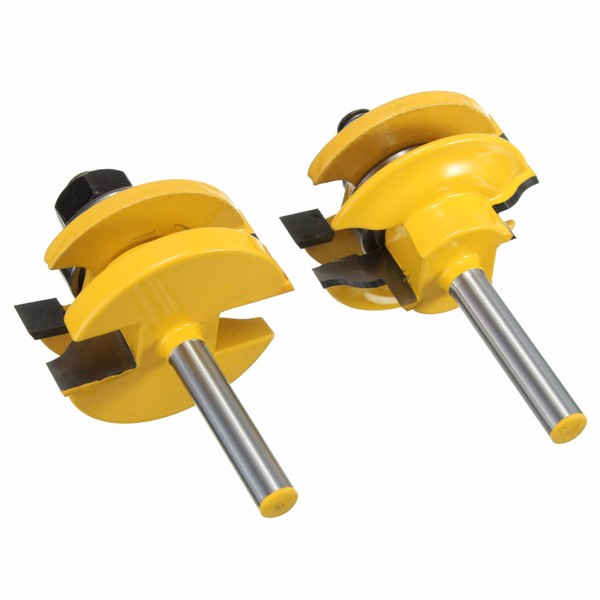 Drillpro 1/4 Inch Shank Rail and Stile Router Bits Stan