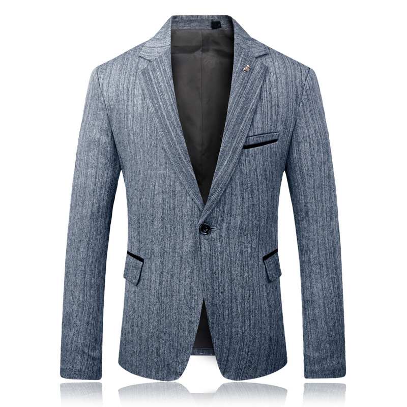 Mens Plus Size Stripe Design Sim Fit Suit Jacket Blazer