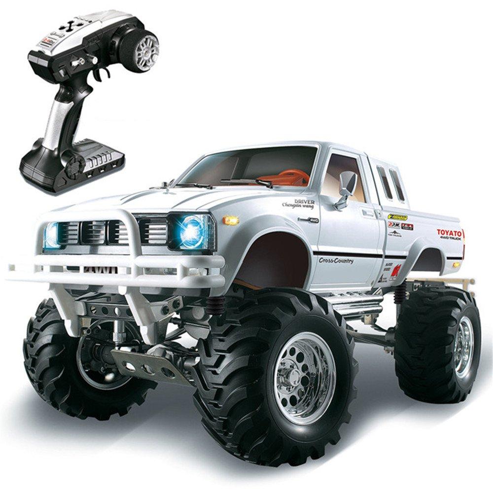 hg p407 1 10 2 4g 4wd rally rc car toyato metal 4x4 pickup truck rock crawler rtr