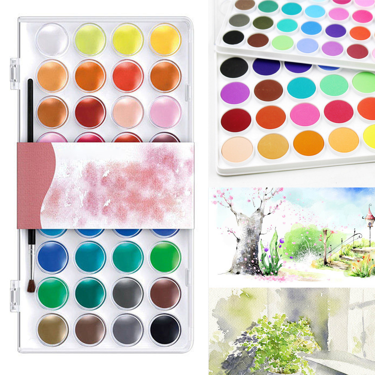 36 Assorted Colors Solid Watercolor Artist Acryli