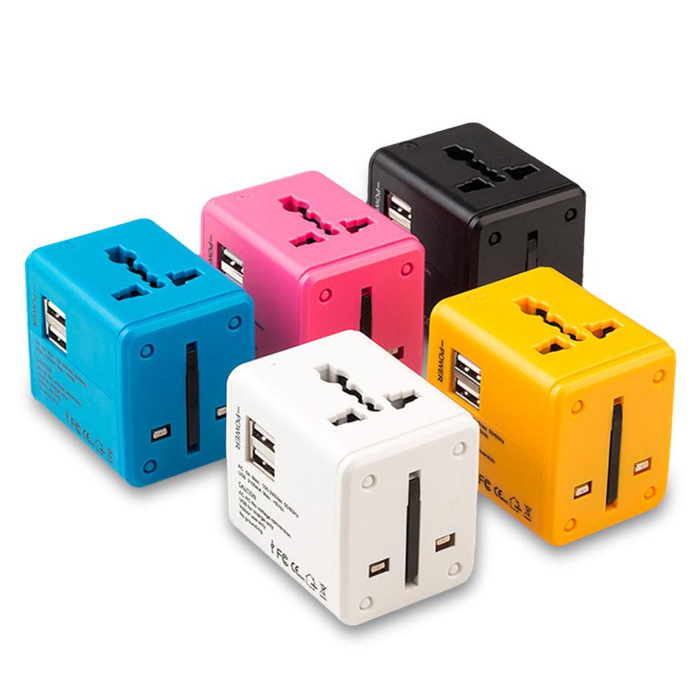 1A Universal Conversion Plug Travel Conversion Socket Dual USB Converter Plug Charger EU /AU /US /UK Plug Socket Connector