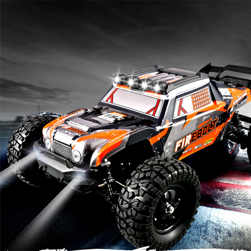 HBX 901A RTR 1/12 2.4G 4WD 45km/h Brushless RC Cars Fast Off-Road LED Light Truck Models Toys 1
