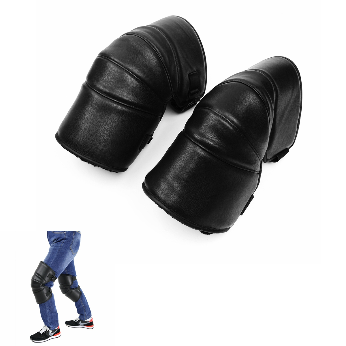 Motorcycle Protect Thick Warm Knee Pads Winter Co