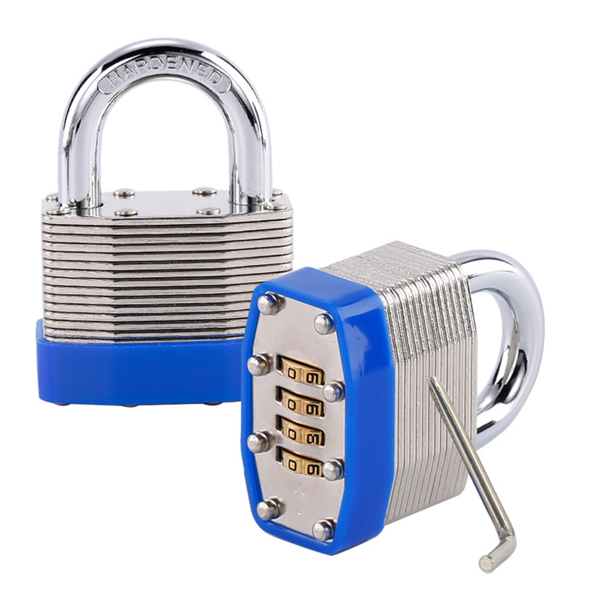 Password Padlock 4 Digit Laminated Steel Body Mot