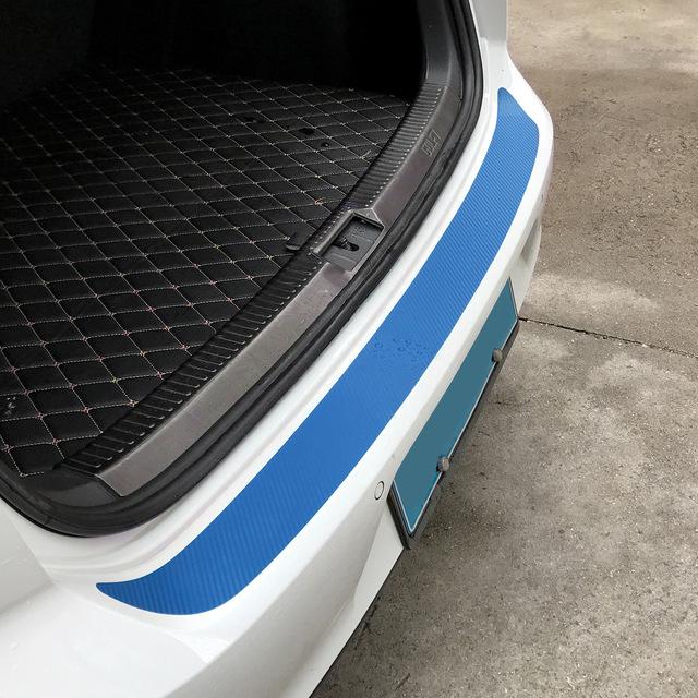 108X7.2cm Carbon Fiber Rear Bumper Car Stickers P