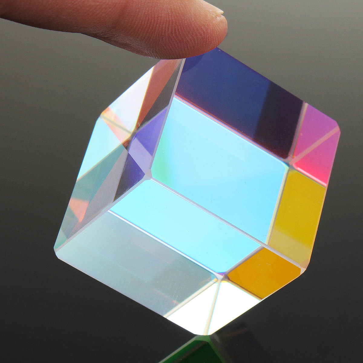 30x30mm Cube Defective Cross Dichroic Prism RGB Combiner Splitter Glass Decor