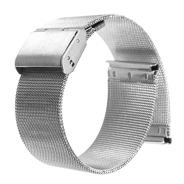 18/20/22/24mm Silver Stainless Steel Mesh Net Watch Ban