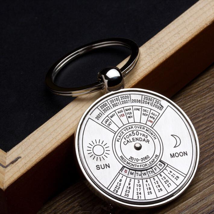Best Gift 2010 To 2060 Years Calendar Metal Key Chain P