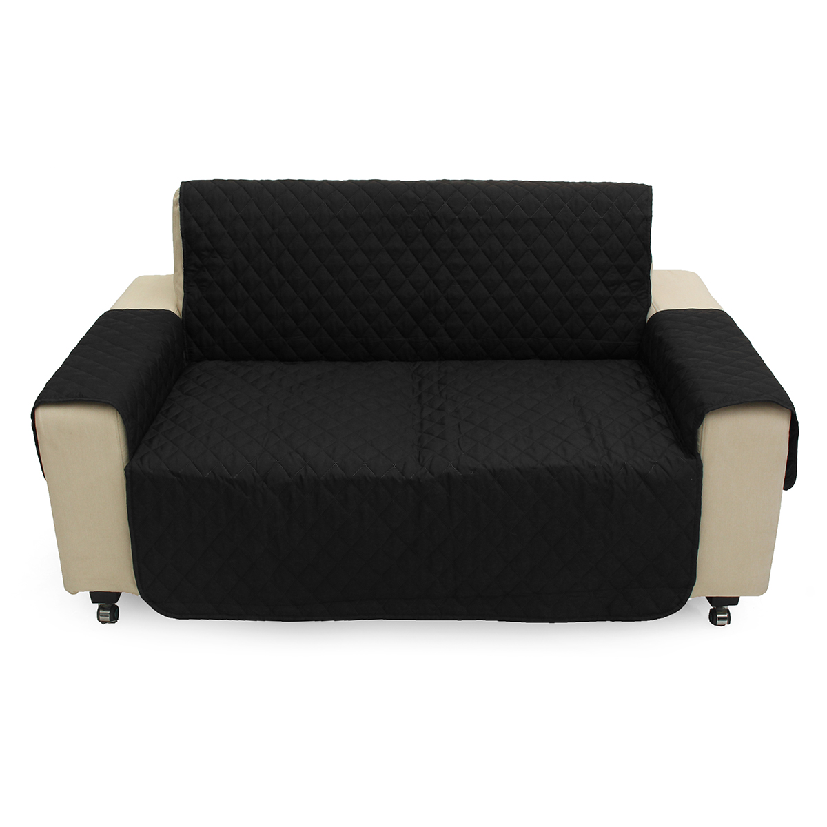 2 Seater Black Pet Sofa Couch Protective Cover Pad Remo