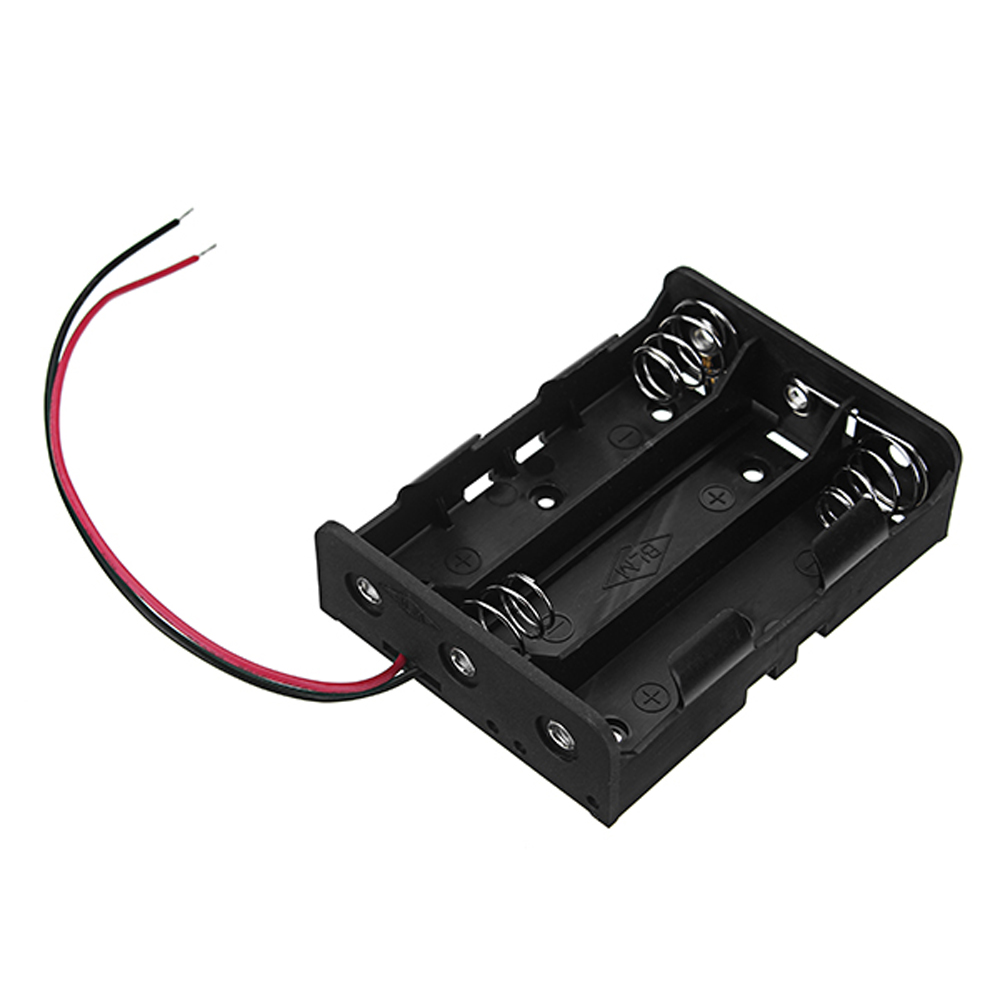 20pcs DC 11.1V 3 Slot 3 Series 18650 Battery Holder Box Case With 2 Leads And Spring