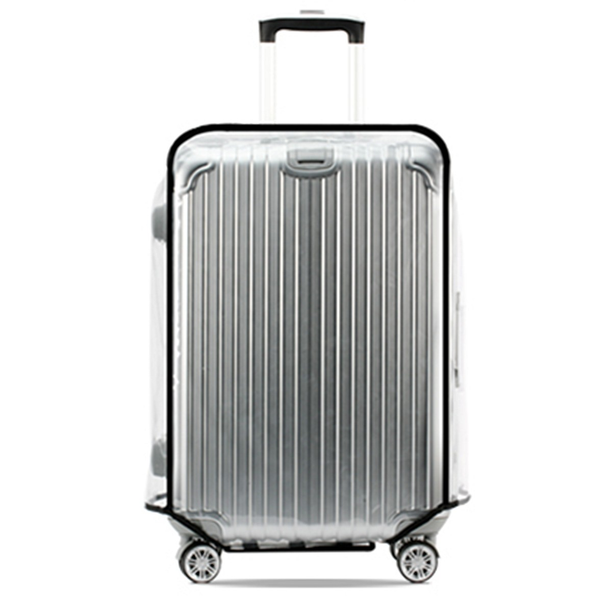 Universal Waterproof Transparent Protective Luggage Cover Suitcase Case Travel