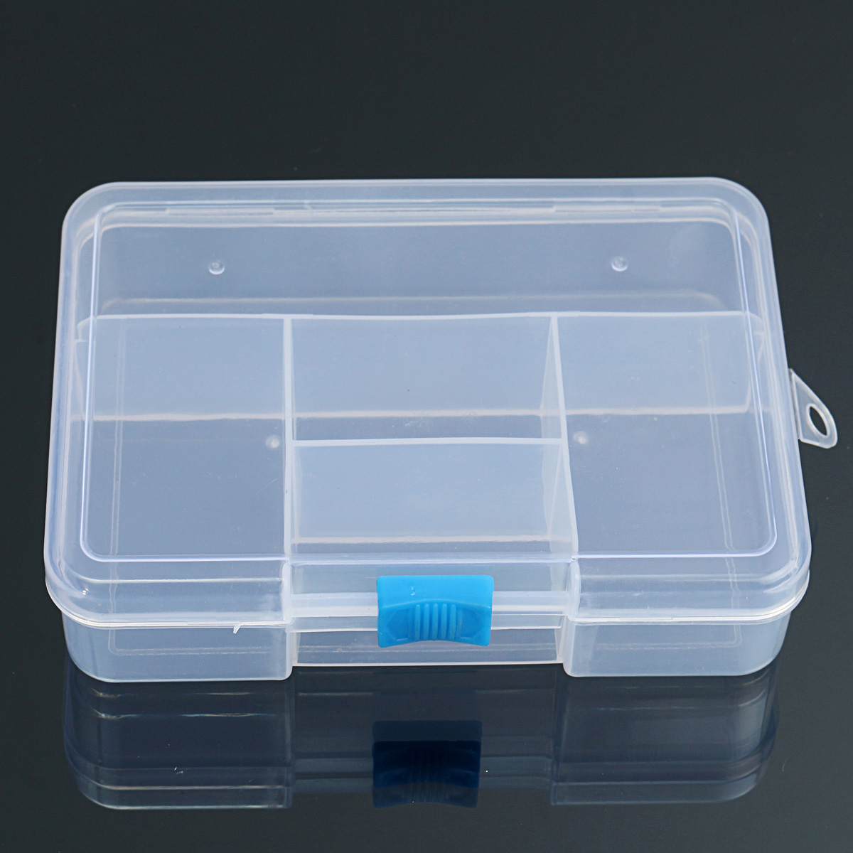 5 Grids Clear PP Eco-Friendly Adjustable Storage Container DIY Crafts Jewelry Organizer Dividers Box