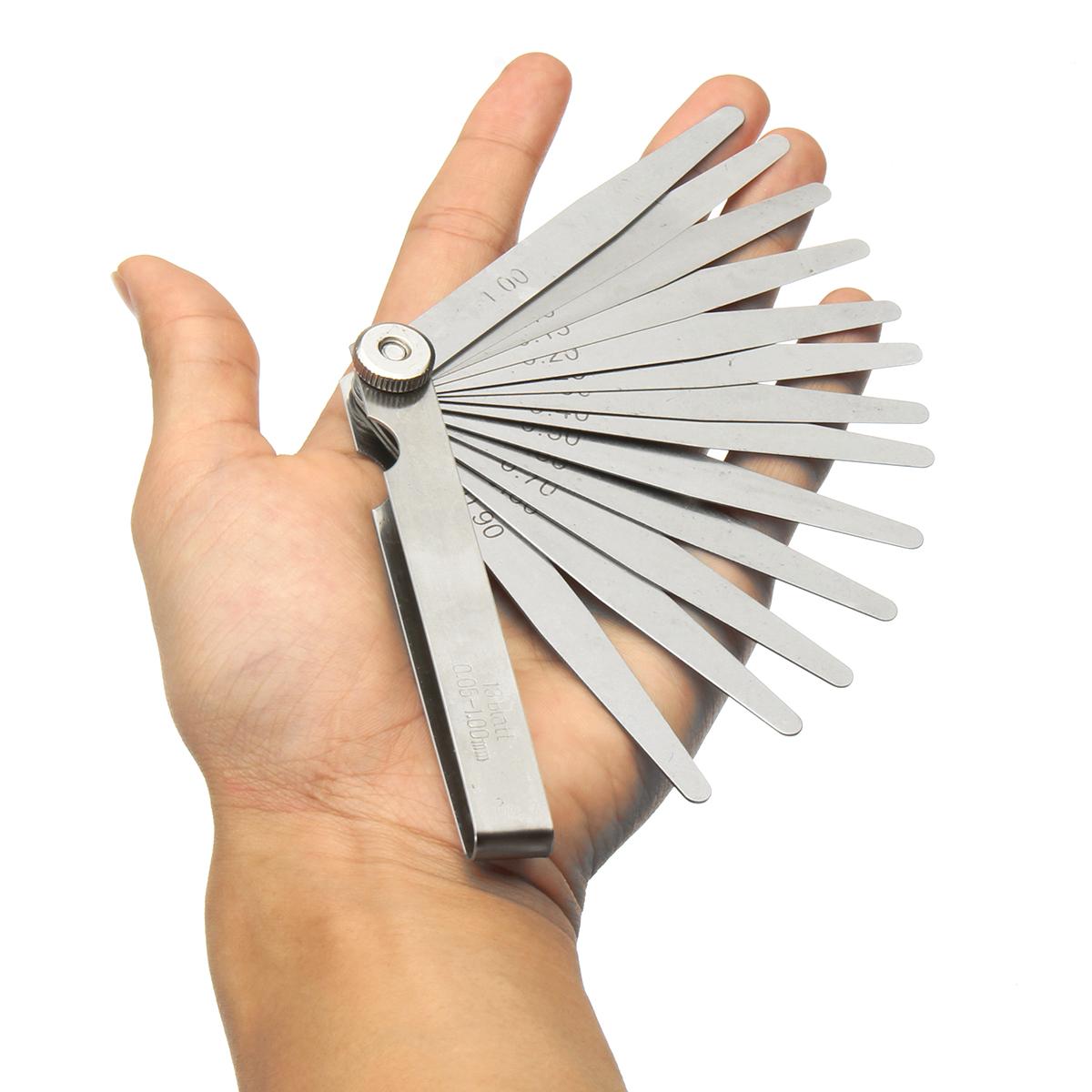 Metric Steel 13 Blade Feeler Gauge 0.05 to 1.0mm Spark