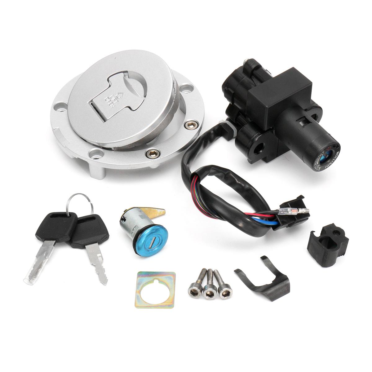Aluminum Ignition Switch Lock Fuel Gas Cap Key Se