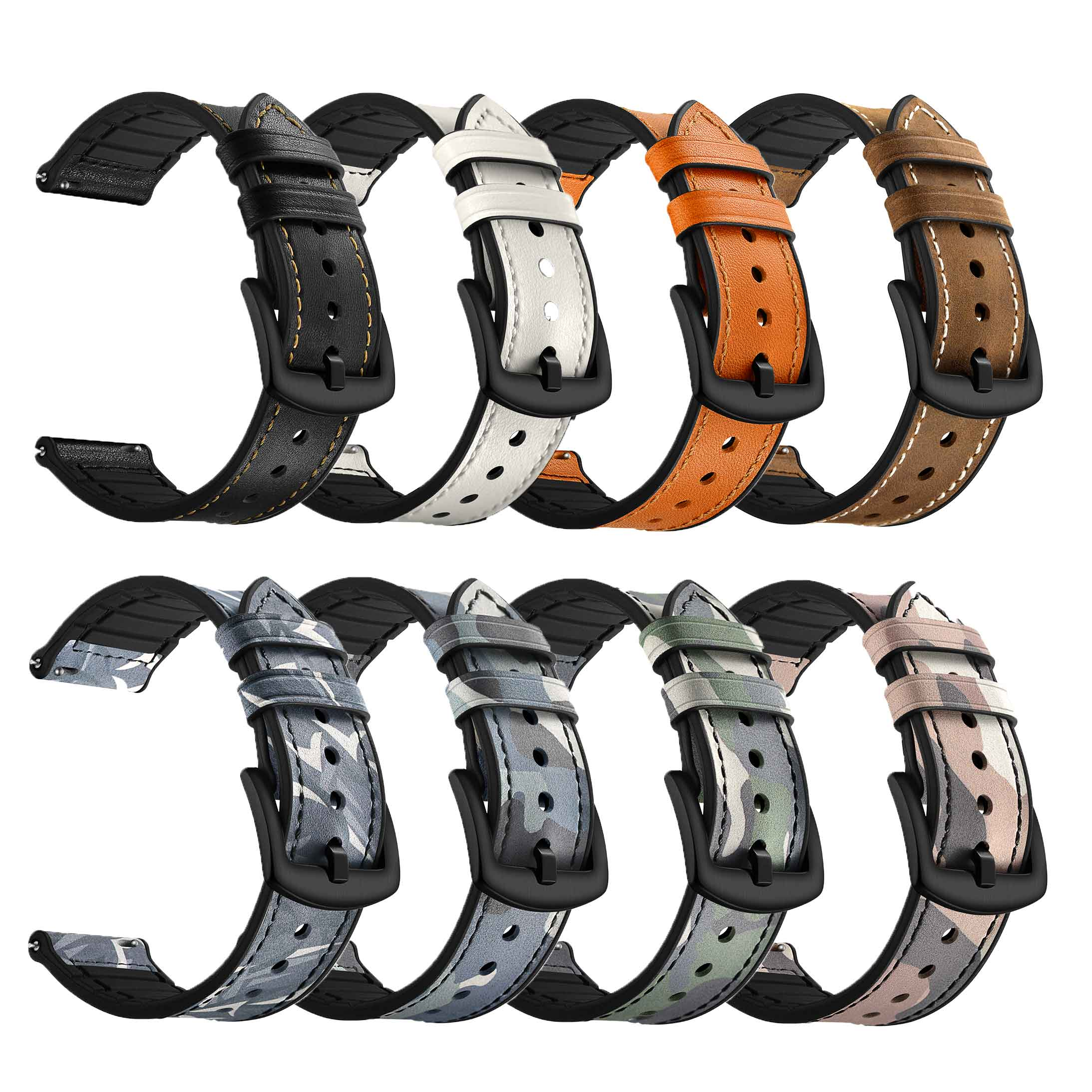 Find Bakeey 20mm Universal Camouflage Green Silicone Watch Strap Replacement Watch Band for Samsung Galaxy Watch 4 Classic for Sale on Gipsybee.com