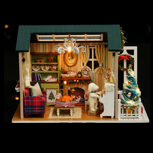 CuteRoom Z-009-A Dollhouse DIY Doll House Miniature Kit