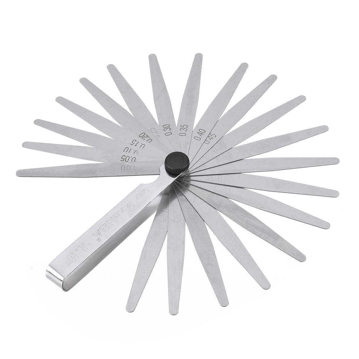 Drillpro 20 Blade Feeler Metric Gauge 0.05 to 1.0mm Thi