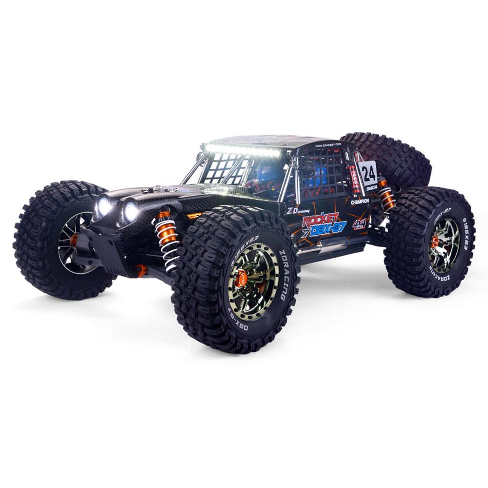 ZD Racing DBX 07 1/7 4WD 80km/h Fast Brushless RC Car 6S Vehicles Desert Monster Off-Road Models RTR/KIT Frame 1