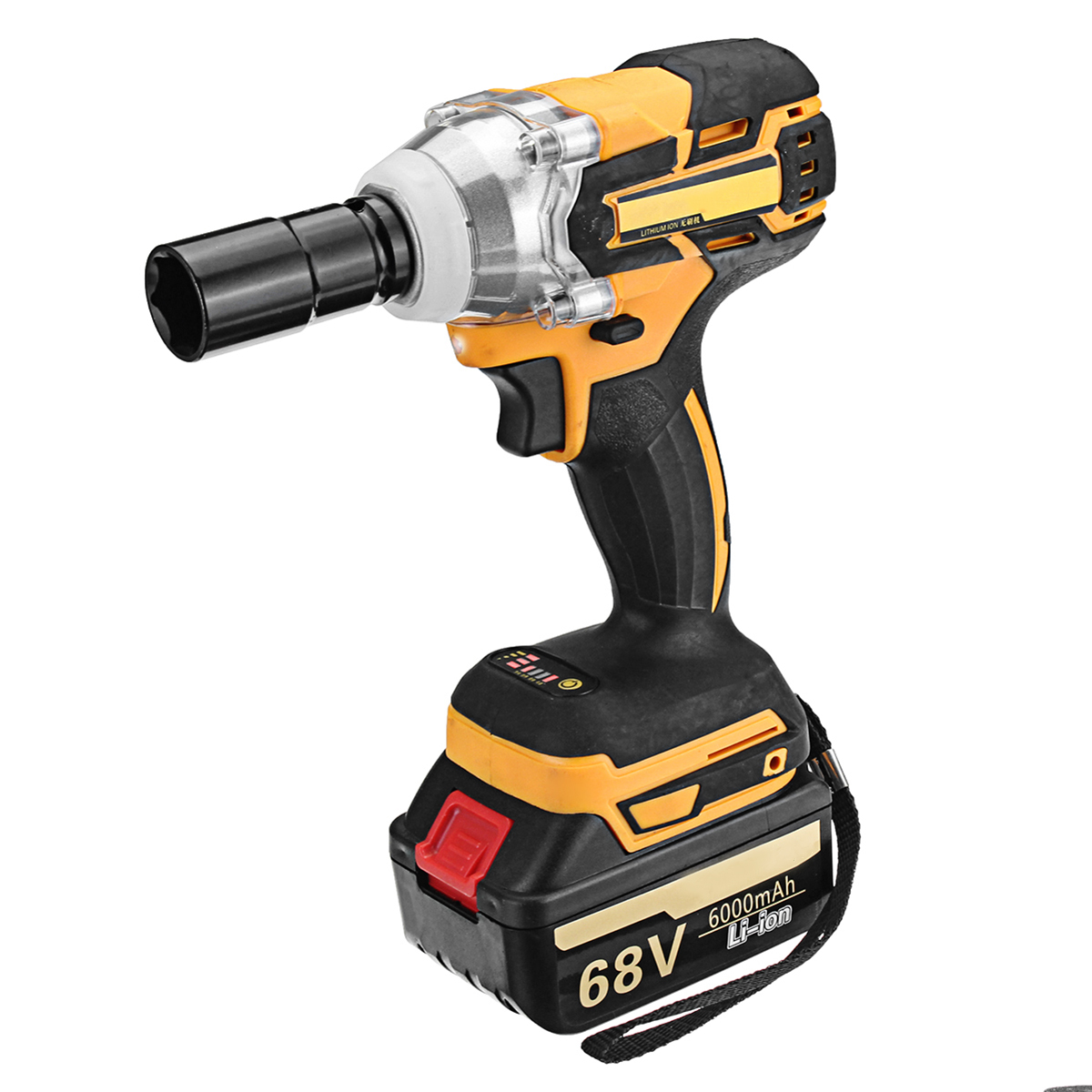 68V 6000mAh Electric Wrench 2 Batteries 1 Charger Brushless Cordless Drive Impact Wrench Tools