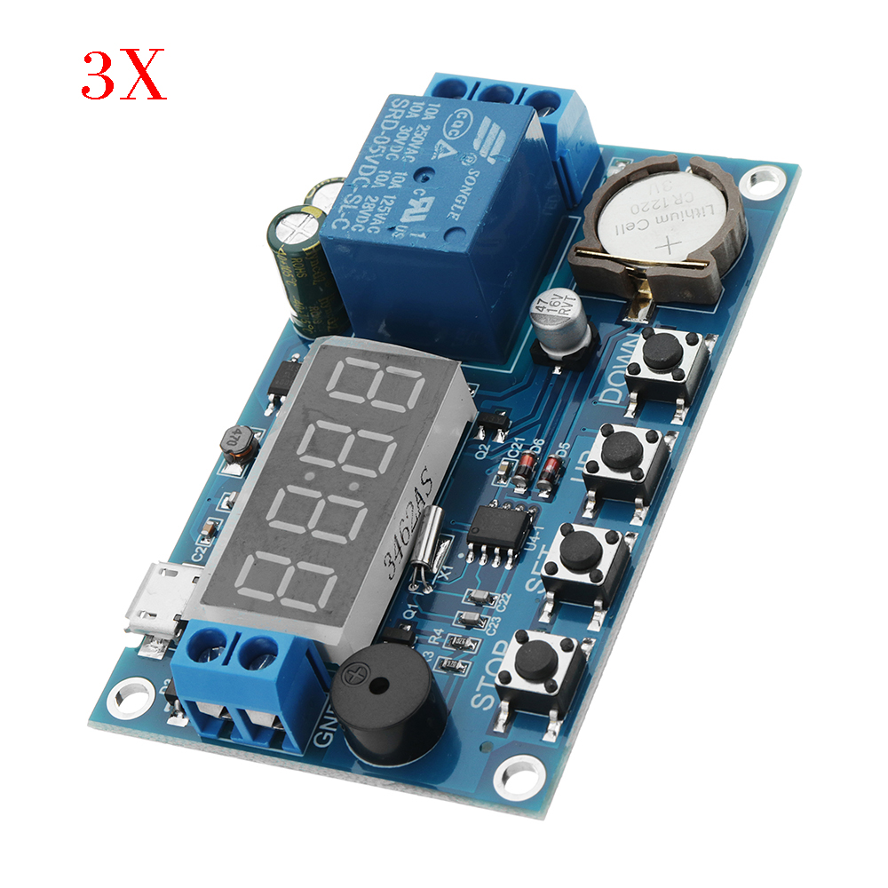 3pcs DC 5V To 60V Real-time Relay Module Cloc