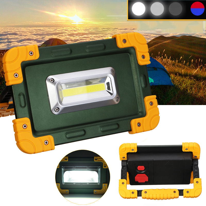 30W 3.7V LED COB Work Lantern Spot Flood Light USB Rech