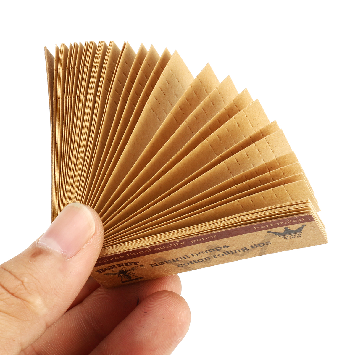 10 x Hornet Rolling Paper Filter Tips 50 Leaves 60*21MM