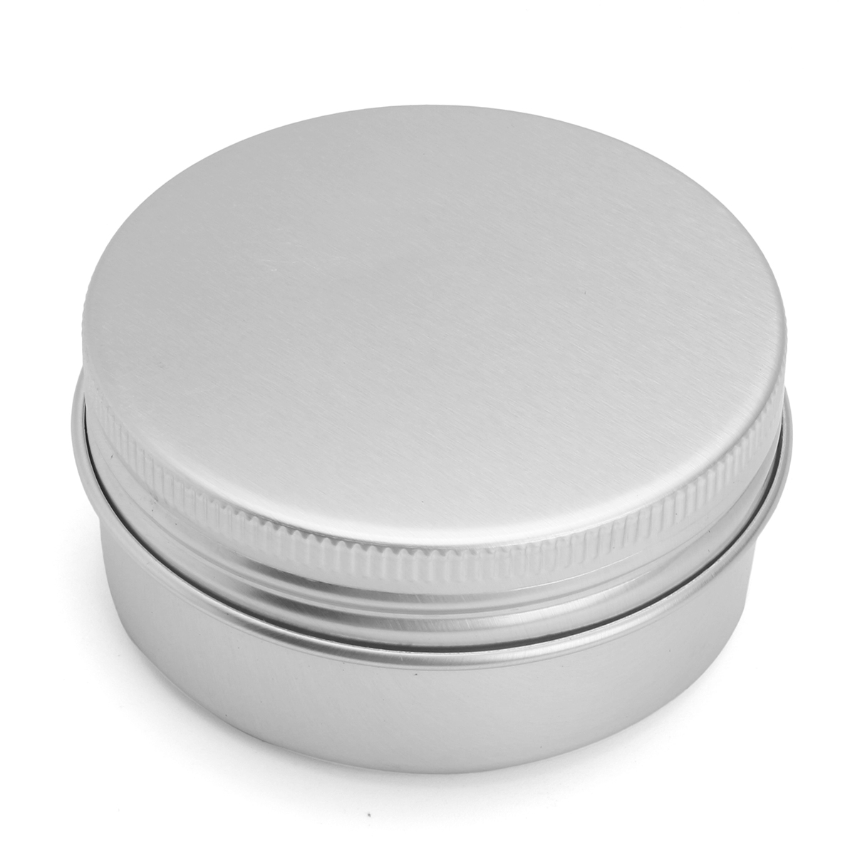 24Pcs 50G Aluminum Round Empty Jar Tin Screw Top Lid Cosmetic Sample Storage Container
