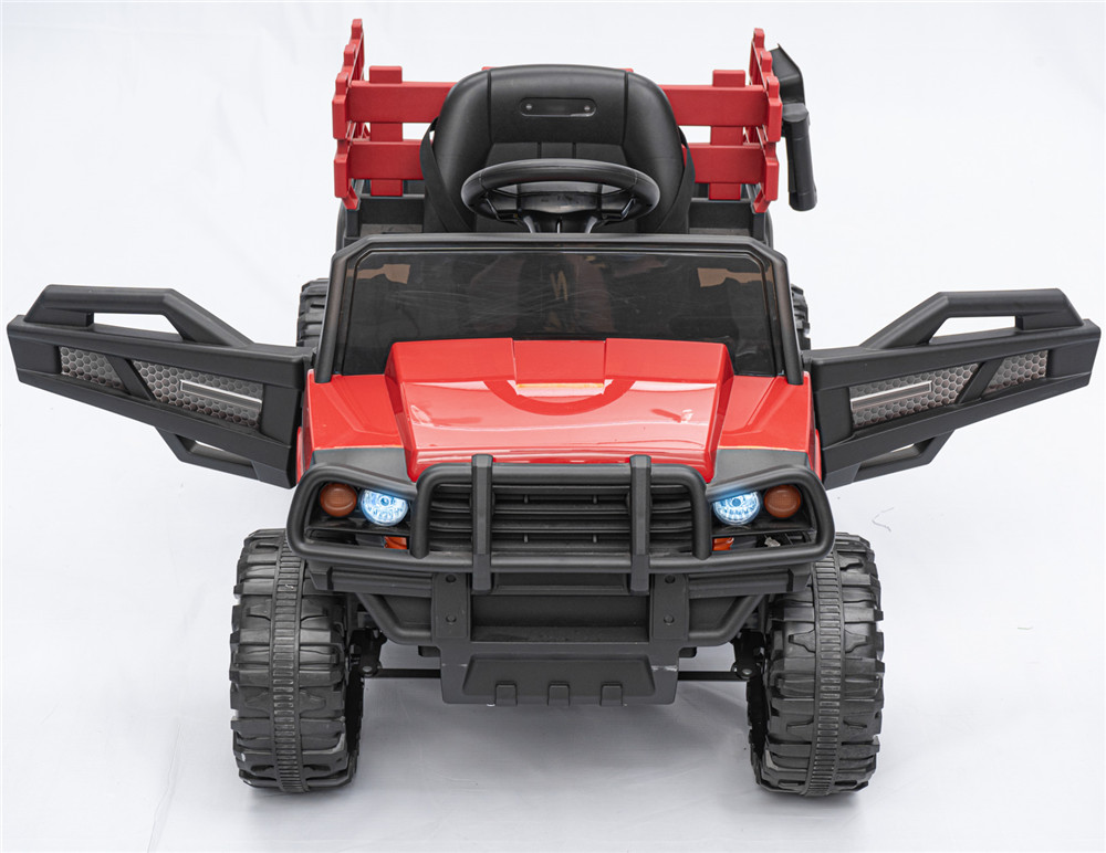 KinSo 12V Electric Kids Ride On Car Truck w/ Remote Control Trailer MP3/USB for Music LED Lights Horn 3 Speed Battery Powered Toys Gifts Vehicles