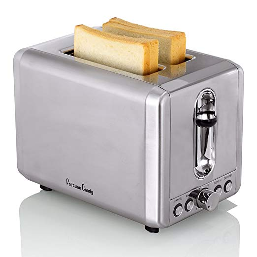 Fortune Candy KST009 2 Slices Toaster Bagel Toaster With Extra Wide Slot High Lift Lever Bread Maker