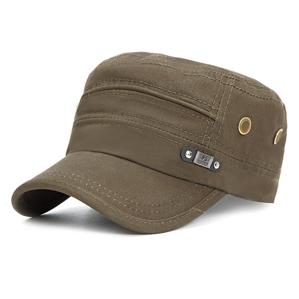 Men Unisex Vintage Military Cotton Flat Hats Ourdoot Sp