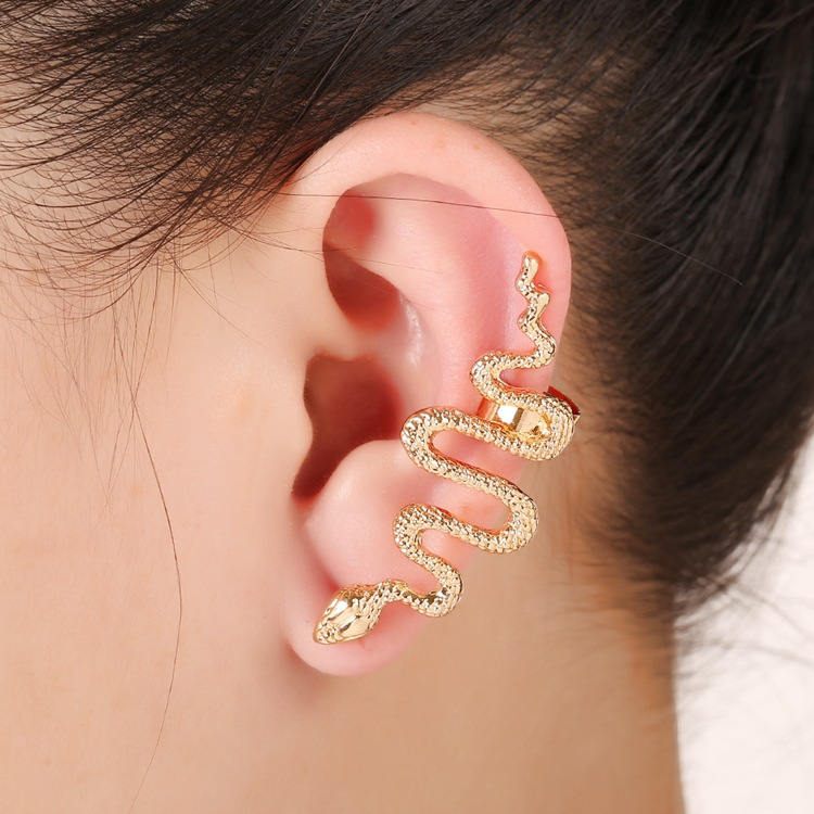1Pc Exaggerate Snake Left Right Ear Cuff Zinc Alloy Sil