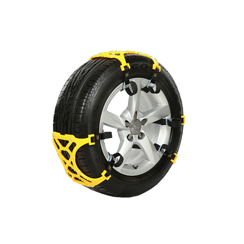 6pcs 165-265 mm Tire Anti Skid Snow Belt Set Snow
