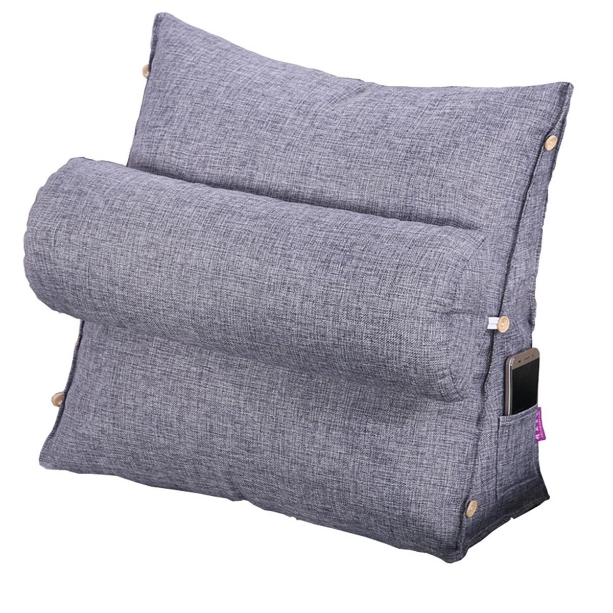 Triangular Back Pillow Rest Sleep Neck Home Sofa Bed Lumbar Office Cushion Office Home Use