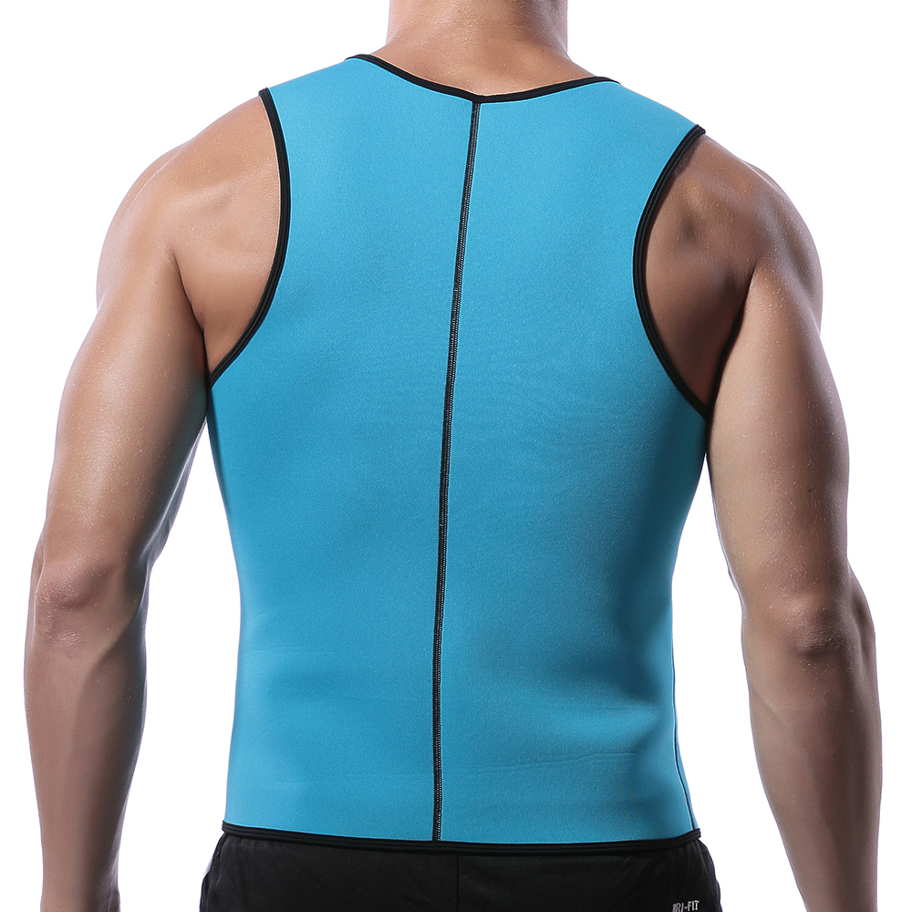 Men Neoprene Body Shaper Vest Muscle Workout Sport Zipp