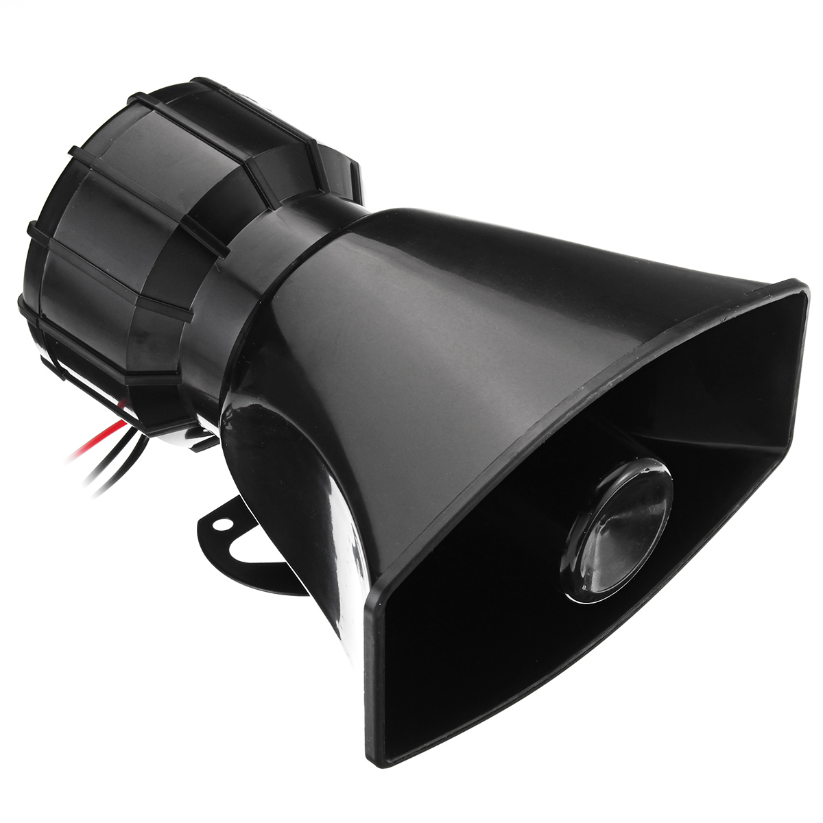 100W Car Warning Alarm 5 Sound Loudly Police Fire Siren Horn PA Speaker with Mic