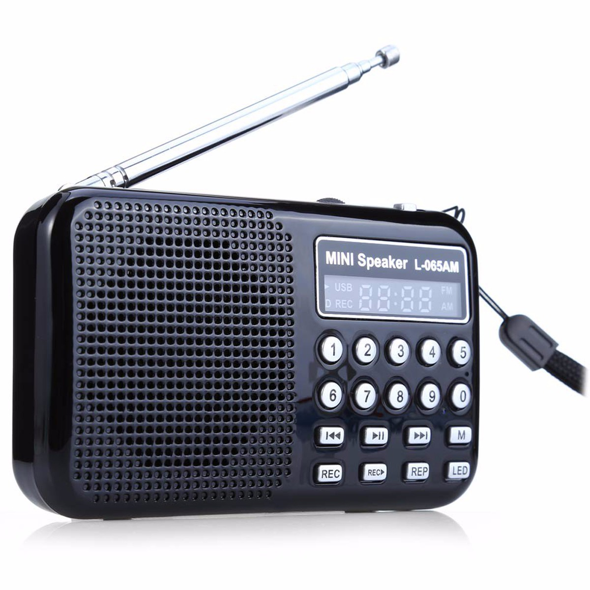 FM/AM Radio Receiver Speaker MP3 Music Player Rechargea