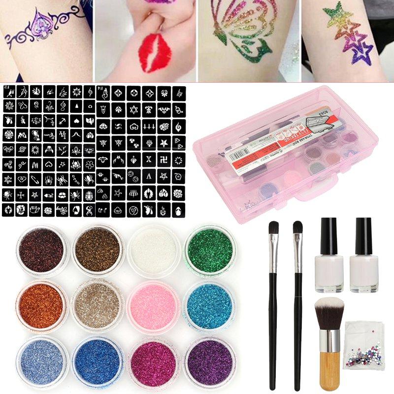 Glitter Powder Diamond 12 Color 111 Stencil Tempo