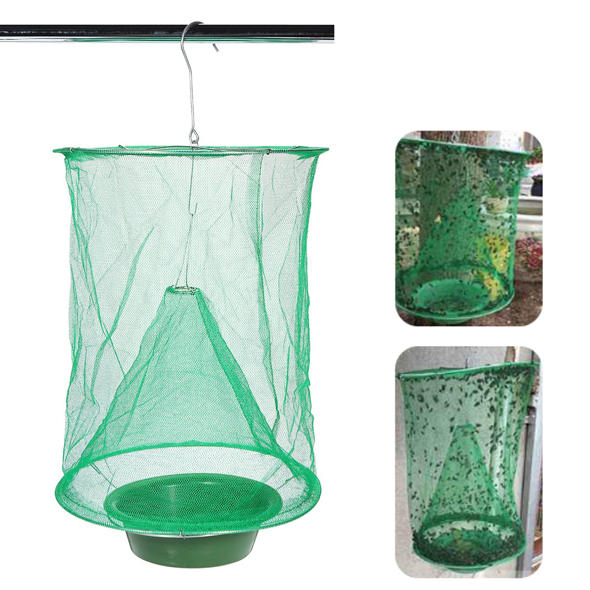 Fly Trap Insect Trap Net Gardening Hanging Folding Reusable Drosophila Insect Hog Catcher Killer