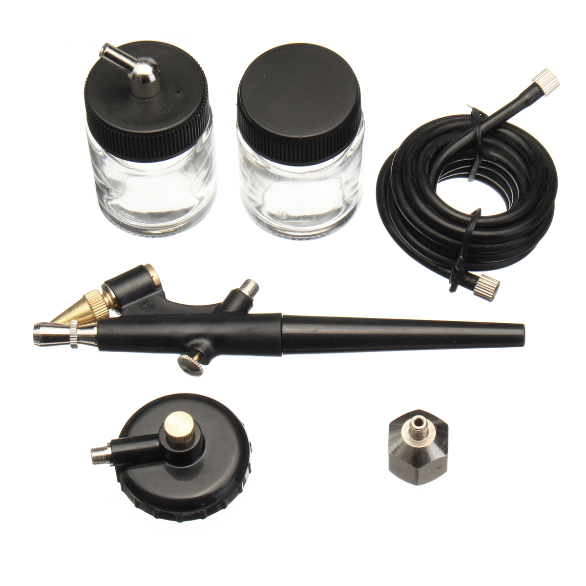 Mini Airbrush Spray Kit 22cc Ink Cup Hose Airbrush Pain