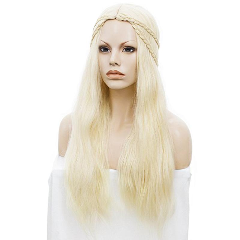 Blonde High-Temperature Fiber Cosplay Wigs Costum